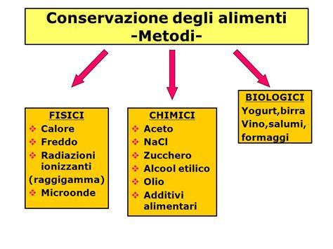 metodi conservazione alimenti conservazione degli alimenti ppt scaricare