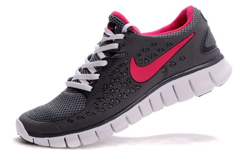 nike free run running shoes grey pink nike
