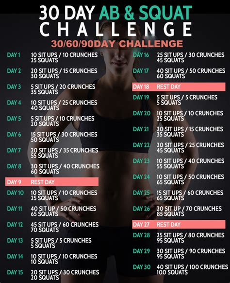 60 days squat challenge 30 day ab squat challenge 306090 d