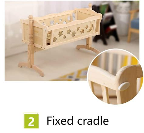 wooden cradle swing european style multifunctional baby bed wooden baby crib