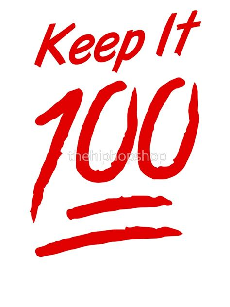 100 emoji tattoo designs quot keep it 100 quot stickers by thehiphopshop redbubble