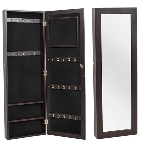 wall mounted jewelry cabinet with mirror jewelry box wall mounted cabinet look neat with mirror