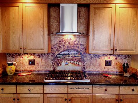 best tile murals for kitchen with regard to tuscany 14915