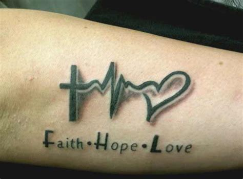 45 perfectly cute faith hope love tattoos and designs with