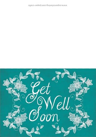 get well soon card template free get well soon card template free printable papercraft
