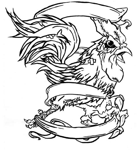 fighting rooster drawings cliparts co