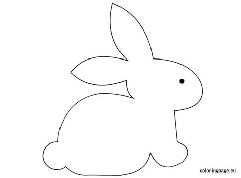 Hase Basteln Vorlage by Bunny Craft Template Easter Bunny Crafts