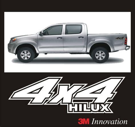 Toyota Hilux 4x4 Stickers Calcomania Stickers 4x4 Para Toyota Hilux Todos Los A 241 Os