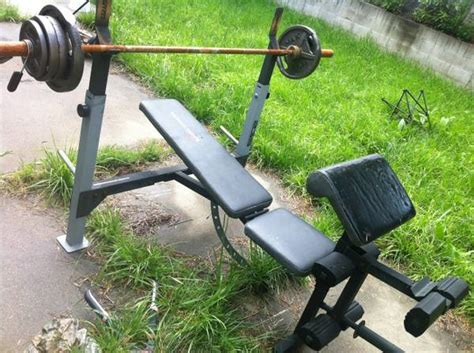 weider bench press bar weight weider bench press espotted