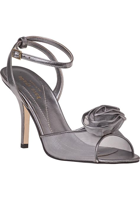 pewter color sandals kate spade new york sandal pewter leather in metallic