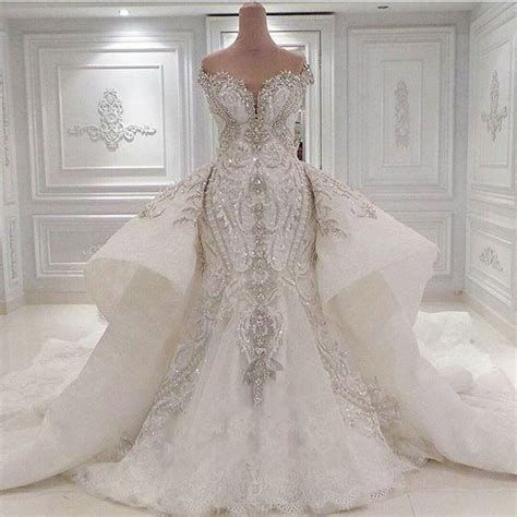Luxury Wedding Dresses by Luxury 2016 Bling Mermaid Wedding Dress With Detachable
