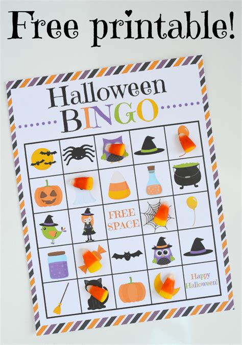 printable halloween bingo cards with pictures halloween bingo free printable