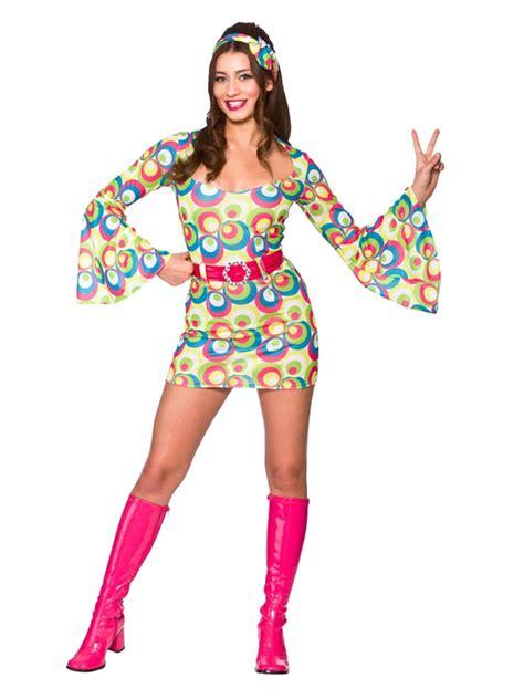 If You Retro Wic Originals retro go go pink blue swirl costume 1960 s 1970