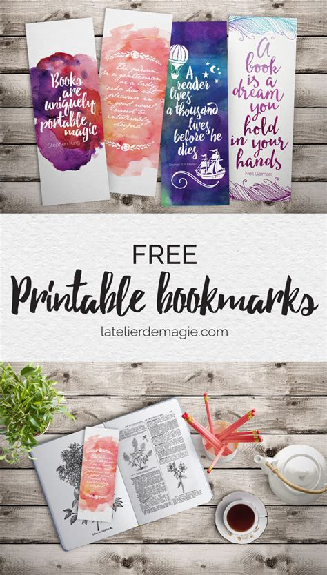 printable bookmarks for books free free printable bookmarks latelierdemagie com from the