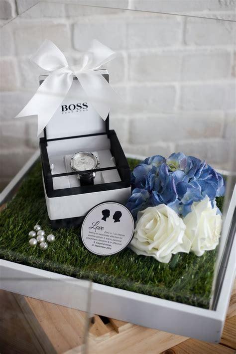 garden themed gift trays ola lola weddings