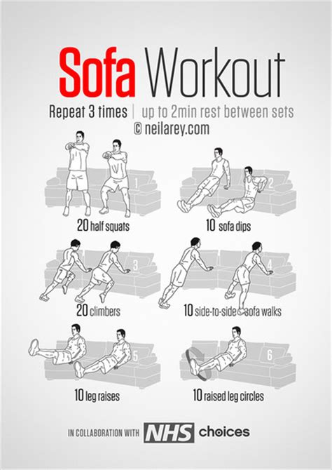 Sofa Exercises by Get Fit While Tv Huffpost