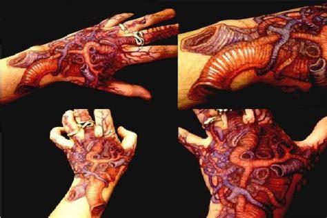 hand tattoo veins wackiest anatomical tattoos