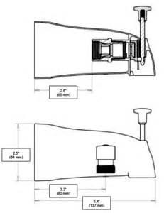 Bathtub Shower Adapter Add A Shower Diverter Tub Spout U1072 Chrome 43 32