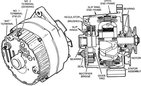 replace alternator diode trio repair guides charging system alternator autozone