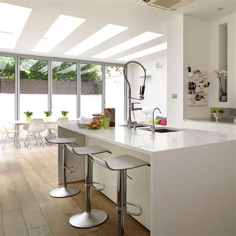 island units for kitchens island unit be inspired by a white minimalist kitchen housetohome co uk