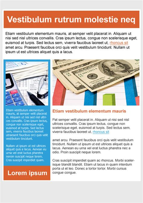 Finance Newsletter financial services newsletter templates email marketing gr
