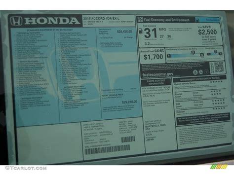 Honda Accord Sticker by 2015 Honda Accord Ex L Sedan Window Sticker Photos