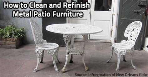 how to restore metal outdoor furniture how to clean and refinish metal patio furniture