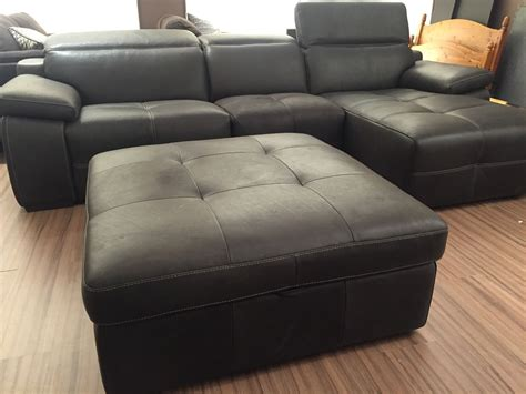 natuzzi grey leather sofa natuzzi edition slate grey power reclining leather sofa