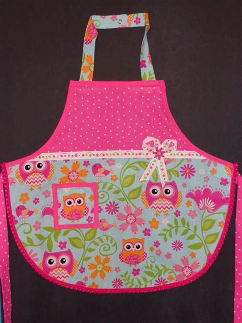 pattern for owl apron owl apron for little girl i used mccalls pattern m6587 i