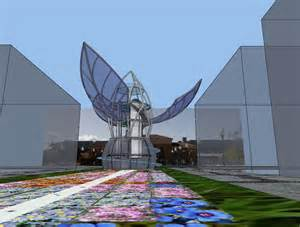 sun sculpture organograph giant kinetic flower sculpture is powered by the sun organograph climate clock