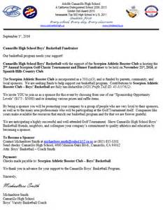 golf fundraiser letter scorpion athletic booster club