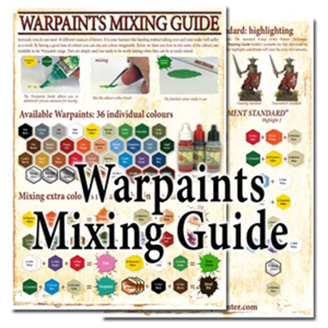 the army painter has pdf paint mixing guide tabletop gaming news