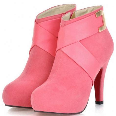 enmayerblack pink ankle boots fashion boot