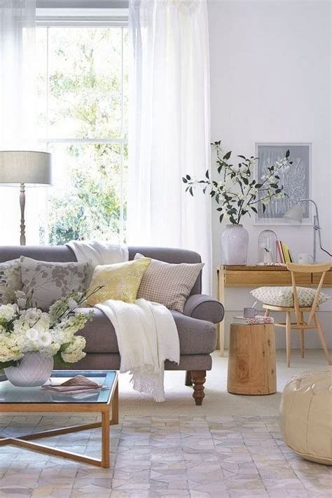 gray neutral living room haus pinterest stunning neutral living room scheme with a grey sofa and