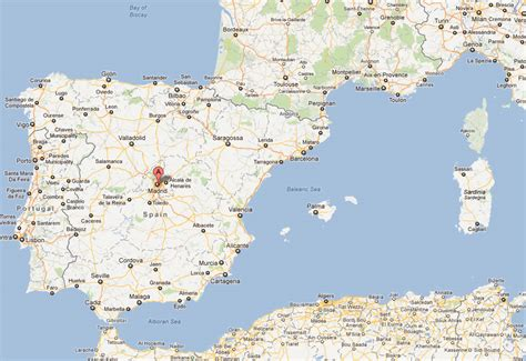madrid spain on world map madrid map