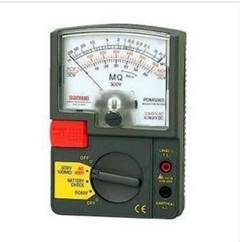 Sanwa Dm1008s Analog Insulation Resistance Tester Dm 10 Murah sanwa dm508s analog insulation resistance tester 500v
