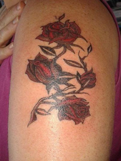 roses and thorn tattoos roses with thorns ideas