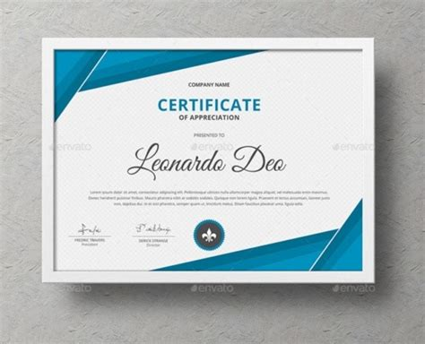 certificate of recognition template word eps ai and psd