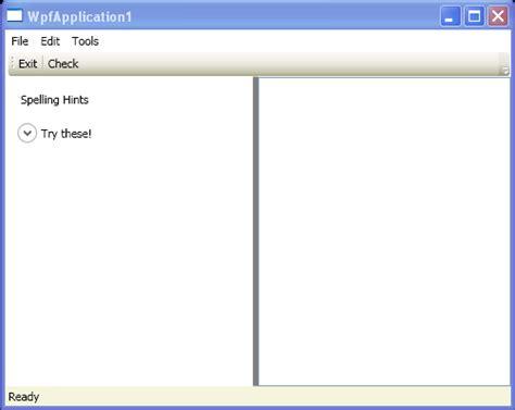 wpf layout complete event window with menu toolbar statusbar menu 171 windows