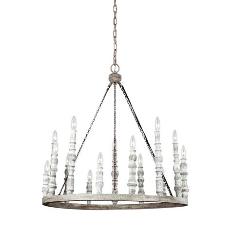 Distressed White Chandelier Feiss Norridge 15 Light Distressed White Chandelier F3142 15dfb Dwh The Home Depot