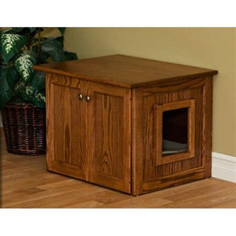 Litter Box Cabinets by Amish Made Cat Litter Box Cabinet