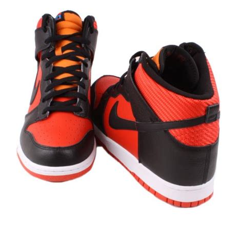 mens nike high top sneakers nike dunk high mens black white orange high top