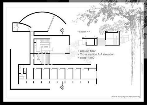 tadao ando floor plans koshino house plan moreover koshino house site section