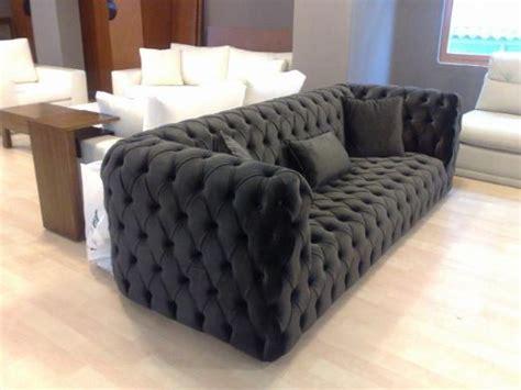 Fabric Chesterfield Style Sofa Black Fabric Modern Chesterfield Style Sofa Interior Design