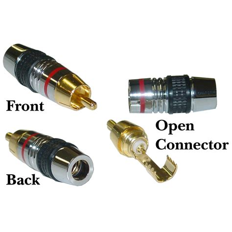Connector Rca Gold rca connector for 7mm coaxial cable band 24k gold