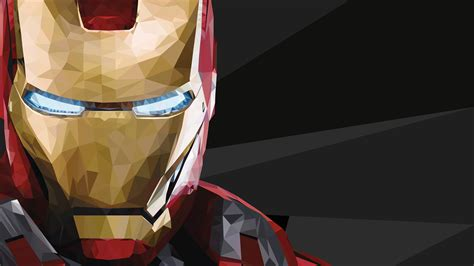 iron man poly art wallpapers hd wallpapers id