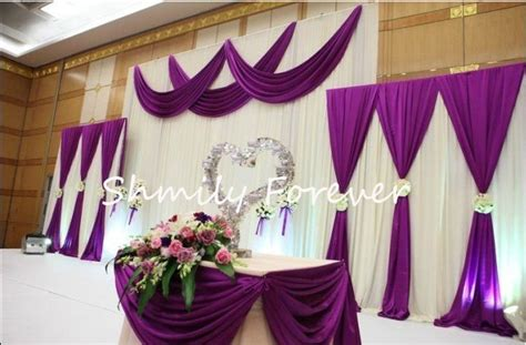 Gold Linen Curtains New Popular 1 Set 2small 1 Big White Purple Backdrops