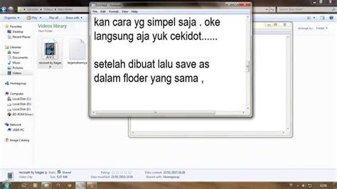 cara membuat template sederhana menggunakan notepad tutorial cara membuat subtitle video menggunakan notepad