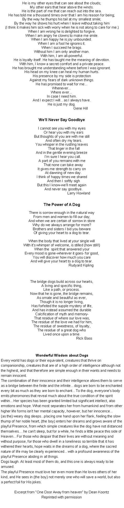Favorite Dog Poems