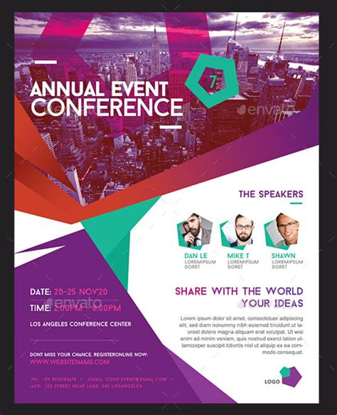 6 conference event flyers designs templates free